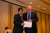 New Orleans, LA - AHA HBPR 2013 : Muhammad Oneeb Rehman Mian recieves the HBPR Research Conference New Investigator award at the HBPR Council and Kindey in Cardiovascular Disease Awards Luncheon   at the American Heart Association High Blood Pressure Research (HBPR) Meeting here today, Friday September 13, 2013.  Physicians, researchers and healthcare professionals gathered at the meeting which is being held at the New Orleans Marriott to improve understanding of mechanisms of high blood pressure. Photo by © AHA/Todd Buchanan 2013 Technical Questions: todd@medmeetingiamges.com
