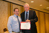 New Orleans, LA - AHA HBPR 2013 : Matthtew Sparks recieves the HBPR Research Conference New Investigator award at the HBPR Council and Kindey in Cardiovascular Disease Awards Luncheon   at the American Heart Association High Blood Pressure Research (HBPR) Meeting here today, Friday September 13, 2013.  Physicians, researchers and healthcare professionals gathered at the meeting which is being held at the New Orleans Marriott to improve understanding of mechanisms of high blood pressure. Photo by © AHA/Todd Buchanan 2013 Technical Questions: todd@medmeetingiamges.com