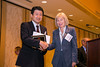 New Orleans, LA - AHA HBPR 2013 : Yoshiaki Taniyama recieves the Top Paers Published in Hypertension - Basic Sciene Category award at the HBPR Council and Kindey in Cardiovascular Disease Awards Luncheon   at the American Heart Association High Blood Pressure Research (HBPR) Meeting here today, Friday September 13, 2013.  Physicians, researchers and healthcare professionals gathered at the meeting which is being held at the New Orleans Marriott to improve understanding of mechanisms of high blood pressure. Photo by © AHA/Todd Buchanan 2013 Technical Questions: todd@medmeetingiamges.com