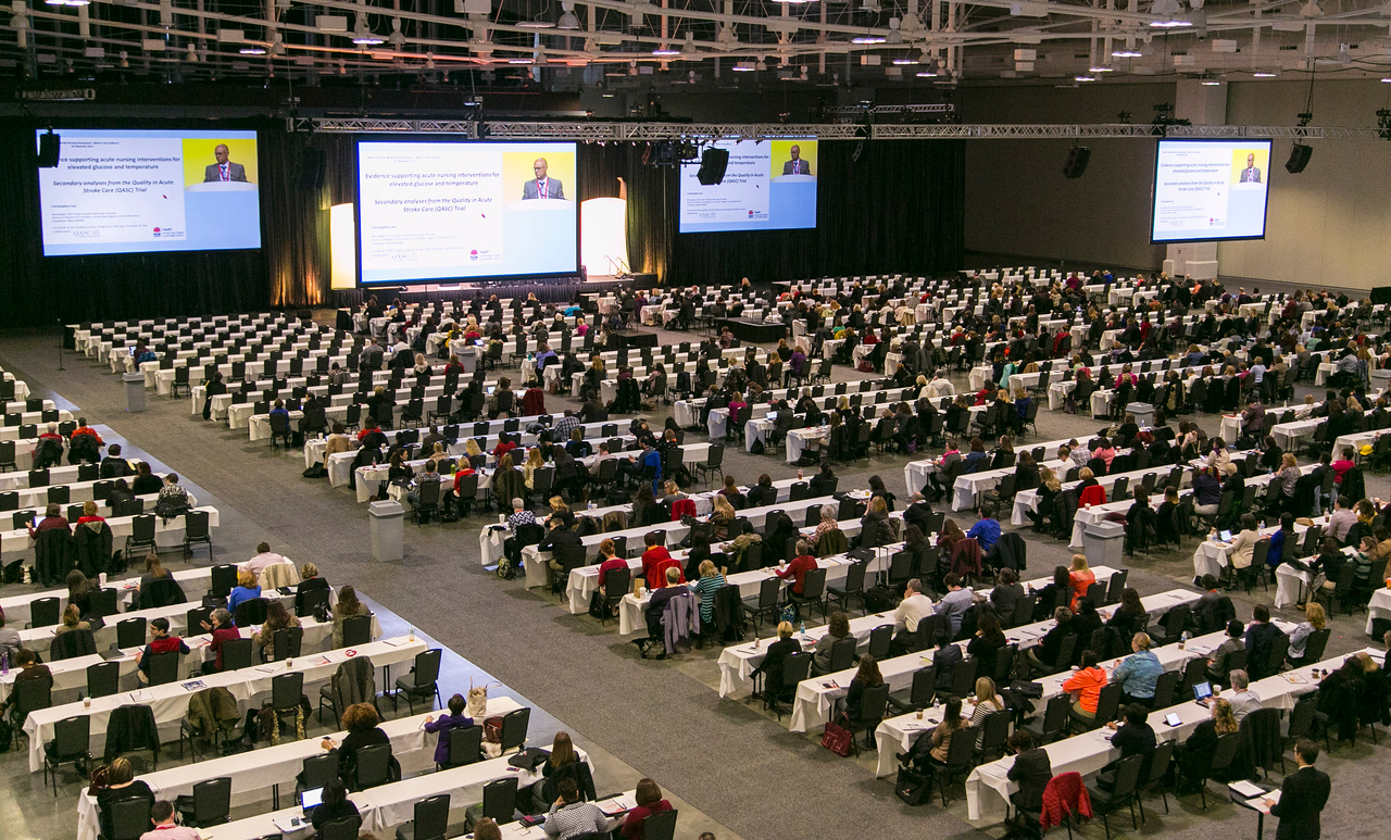 Nashville, TN - ISC 2015 - General views during ISC Pre-Conference Plenary Session at the International Stroke Conference at the Music City Center here today, Tuesday February 10, 2015.  The conference is the premier meeting on the science and treatment of cerebrovascular disease from basic research to patient-based studies to larger clinical trials and population analyses in the United States. More than 4,000  experts from around the world are attending the meeting.  Photo by © AHA/Todd Buchanan 2015
